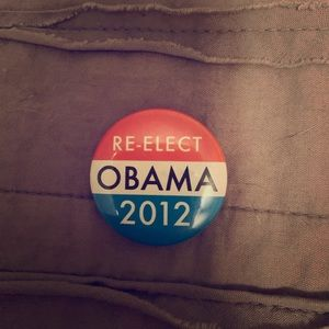 Re-elect Obama button
